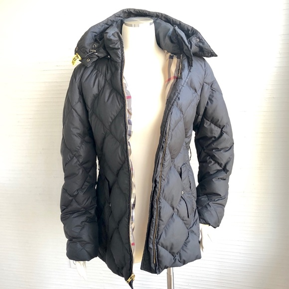 e42902bad BURBERRY LONDON DOWN QUILTED 85/15 PARKA W/HOOD M